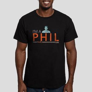 Modern Family I'm a Ph Men's Fitted T-Shirt (dark)