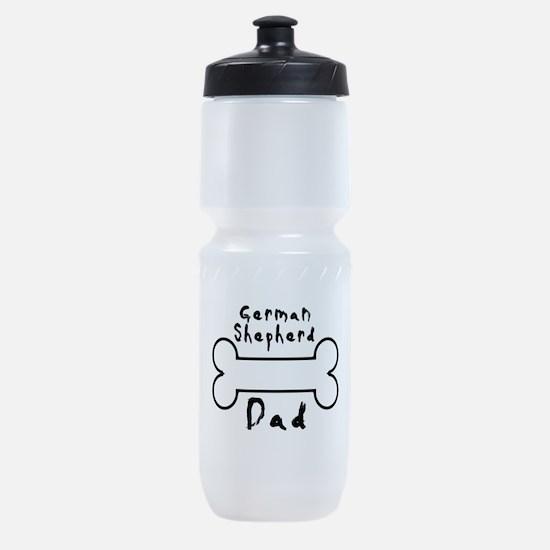 German Shepherd Dad Sports Bottle