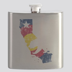 California State Colorado Flag Flask