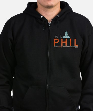 Modern Family I'm a Phil Zip Hoodie (dark)
