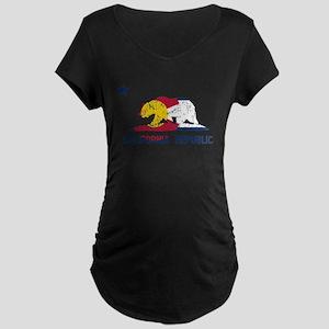 California Republic Colorado Flag Maternity T-Shir