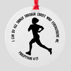 PHILIPPIANS 4:13 Round Ornament