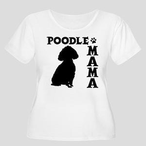 POODLE MAMA Women's Plus Size Scoop Neck T-Shirt