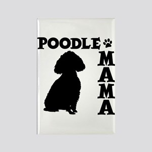 POODLE MAMA Rectangle Magnet