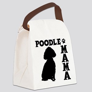 POODLE MAMA Canvas Lunch Bag
