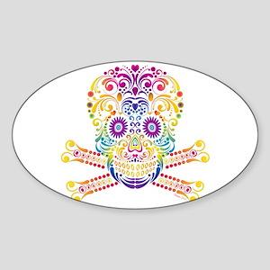 Decorative Candy Skull Sticker