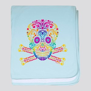 Decorative Candy Skull baby blanket