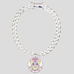 Decorative Candy Skull Charm Bracelet, One Charm