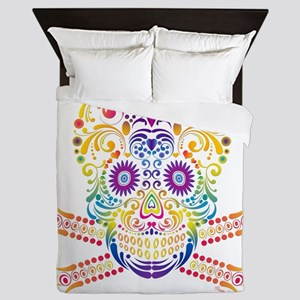 Decorative Candy Skull Queen Duvet