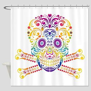 Decorative Candy Skull Shower Curtain