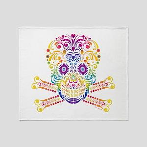 Decorative Candy Skull Throw Blanket