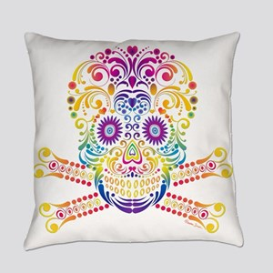 Decorative Candy Skull Everyday Pillow
