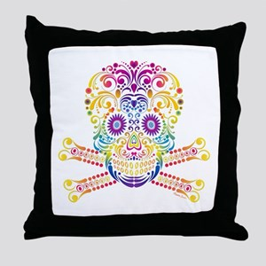 Decorative Candy Skull Throw Pillow