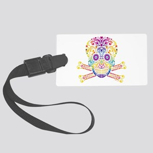 Decorative Candy Skull Large Luggage Tag