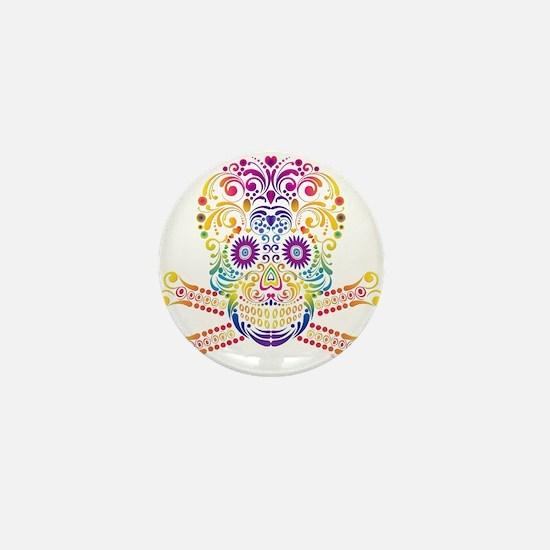Decorative Candy Skull Mini Button