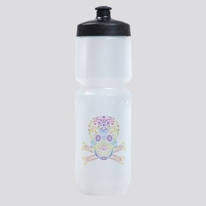 Decorative Candy Skull Sports Bottle