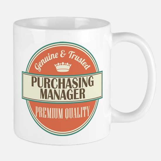 purchasing manager vintage logo Mug