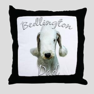 Bedlington Dad2 Throw Pillow