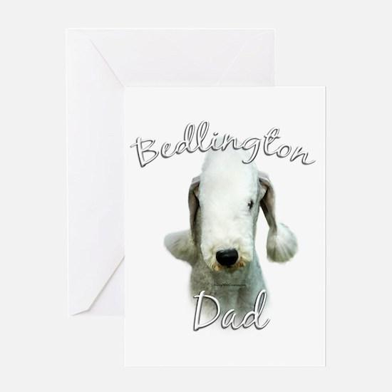 Bedlington Dad2 Greeting Card
