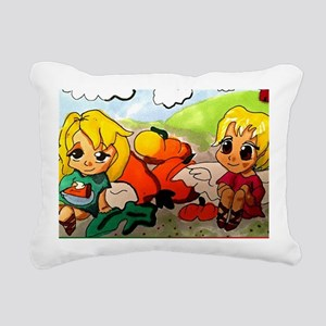 Pie with Michael the Arc Rectangular Canvas Pillow