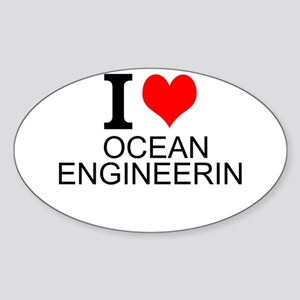 I Love Ocean Engineering Sticker