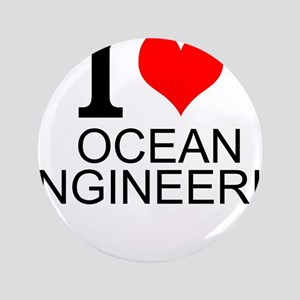 """I Love Ocean Engineering 3.5"""" Button (100 pack)"""