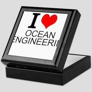 I Love Ocean Engineering Keepsake Box