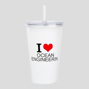 I Love Ocean Engineering Acrylic Double-wall Tumbl