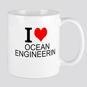I Love Ocean Engineering Mugs