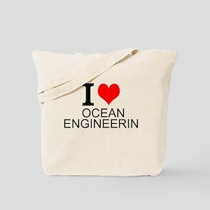 I Love Ocean Engineering Tote Bag