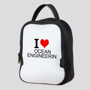 I Love Ocean Engineering Neoprene Lunch Bag