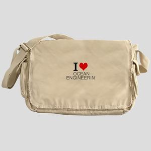 I Love Ocean Engineering Messenger Bag