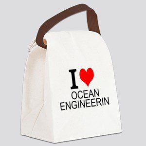 I Love Ocean Engineering Canvas Lunch Bag