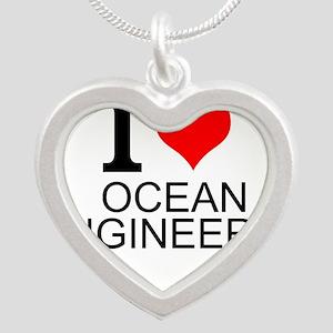 I Love Ocean Engineering Necklaces