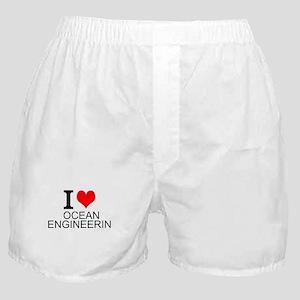 I Love Ocean Engineering Boxer Shorts