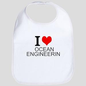 I Love Ocean Engineering Bib