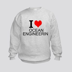 I Love Ocean Engineering Sweatshirt
