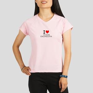 I Love Ocean Engineering Performance Dry T-Shirt