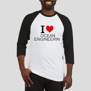 I Love Ocean Engineering Baseball Jersey