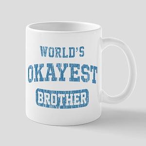 World's Okayest Brother Vintage Mug