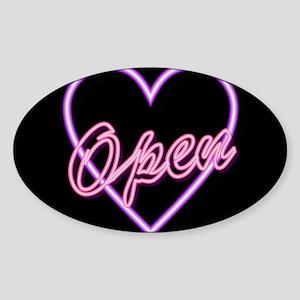 Neon Light Typography Heart Sticker