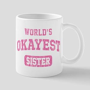 World's Okayest Sister Vintage Mug