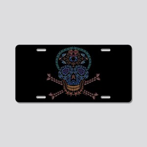 Marine Skull Candy Aluminum License Plate