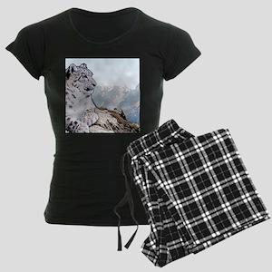 Snow Leopard Drawing Women's Dark Pajamas