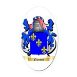 Nunson Oval Car Magnet