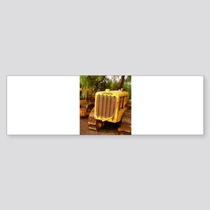 vintage yellow tractor Bumper Sticker