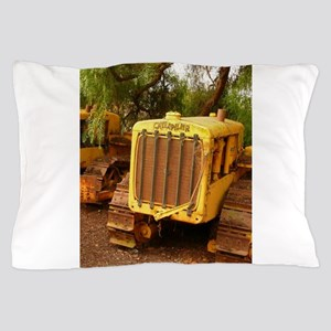 vintage yellow tractor Pillow Case