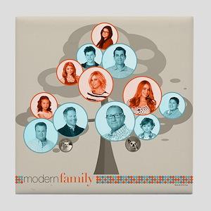Modern Family Tree Tile Coaster