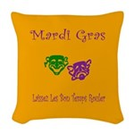 Mardi Gras Masks Rouler Woven Throw Pillow