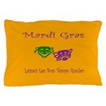 Mardi Gras Masks Rouler Pillow Case